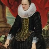 Anthonis van Dyck (1599 - 1641) Bildnis einer Dame mit einem Papagei, Öl auf Holz, 121 x 88 cm, Schätzwert € 300.000 - 500.000 Auktion Alte Meister, 23. Oktober 2018
