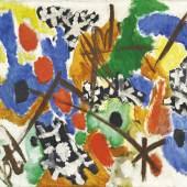 Ernst Wilhelm Nay (1902 - 1968) Einklang, 1953, Öl auf Leinwand, 100 x 120 cm, Schätzwert € 200.000 - 300.000, Auktion  27. November 2018