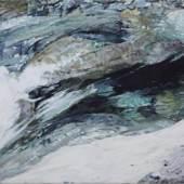 Josef Felix Müller , Eiswasser IV, 2009, Öl auf Leinwand, 135 x 202 cm