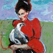 Saša Makarová , Ohne dich gehe ich nicht, 2012, Öl auf Leinwand, 125 x 110 cm