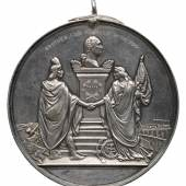 1865 Silver Indian Peace Medal, Andrew Johnson Estimate $30/40,000 Courtesy Sotheby's