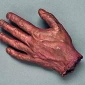 Claude Lalanne, La main de Jean, ca. 1957 Galvanisiertes Kupfer, 6 × 22 × 15 cm Museum Tinguely, Basel, Schenkung Christoph Aeppli © 2020/2021 ProLitteris, Zürich