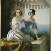 Porträt der Großfürstinnen Maria Nikolajewna und Olga Nikolajewna Timoleon Karl von Neff (1804-1876) Öl auf Leinwand Russland, 1838 © Staatliches Russisches Museum, Sankt Petersburg