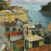 "18. Carl Moll, ""Portofino"", 1928/1929, Foto: Schütz Kunst & Antiquitäten"
