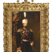 Fürst Alexander I. von Bulgarien, ganzfiguriges Porträt in Uniform mit Ordensschmuck von Karl Dielitz, € 12.000 – 15.000