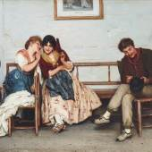 Eugen von Blaas (1843 - 1931), Geheimnisse, Öl auf Leinwand, 40 x 54 cm, Auktion 29. April 2019, Schätzwert € 25.000 - 35.000