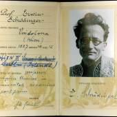 Lot Nr. 96 Auktion 25. November 2019: Erwin Schrödinger: Mitgliedsausweis der päpstlichen Akademie der Wissenschaften, Rom, Vatikan, 28. 10 .1936, mit eigenhändiger Unterschrift Schrödingers und des Präses der Akademie, Rufpreis € 800