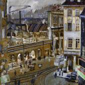Reinhold Nägele, Abbrucharbeiten am alten Stuttgarter Bahnhof, 1924, © VG Bild-Kunst, Bonn 2018