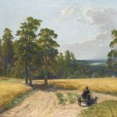 IVAN SHISHKIN, AT THE EDGE OF THE PINE FOREST (1897), oil on canvas, 109 by 162cm 500,000 GBP - 700,000 GBP
