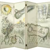 Paravant, Marc Chagall (1887-1985), 1964, Paris, Vier Farblithographien auf Eiche, 147 x 190 cm, © VG Bild-Kunst, Bonn 2011, Foto: Maria Thrun/MKG