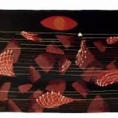Coucher de Soleil (Sonnenuntergang), Max Ernst (1891-1976), 1963, Seillans / Frankreich, Ausführung in Indien, Knüpfteppich aus Wolle, 147 x 203 cm © VG Bild-Kunst, Bonn 2011, Foto: Maria Thrun/MKG