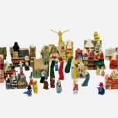 Holzspielzeug Stadt am Ende der Welt, Lyonel Feininger (1871-1956), 1919 bis ca. 1950Weimar / Dessau / Berlin, Holz, gesägt, geschnitzt, bemalt, 3,7 bis 11.5 cm, © VG Bild-Kunst, Bonn 2011, Foto: Joachim Hiltmann, Stanislaw Rowinski, Andreas Torneberg / M