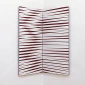 recall 02, 2019, acrylic on aludibond, diptychon, transformable, 100x100 cm
