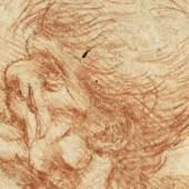 LEONARDO DA VINCI (1452–1519) Kopf eines alten Mannes oder einer alten Frau im Profil, um 1495-1505