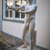 Schaber des Lysipp, römische Marmorkopie einer Bronzestatue um 320 v. Chr., Foto: Ruedi Habegger, Antikenmuseum Basel und Sammlung Ludwig