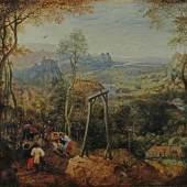 Pieter Bruegel d. Ä., Landschaft mit Elster auf dem Galgen, Hessisches Landesmuseum Darmstadt