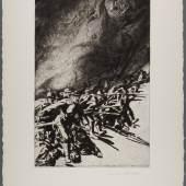 Erich Erler, Sturm, 1915 Radierung auf chamoisfarbenem Kupferdruckpapier 68,2 x 50,8 cm (Blatt), 49,1 x 33 cm (Platte inkl. Facette) © Gudrun Erler Abbildung: © LETTER Stiftung, Köln