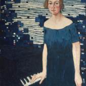Artur Nikodem, Porträt Erna Unterberger, 1922 ,Öl auf Leinwand  © TLM