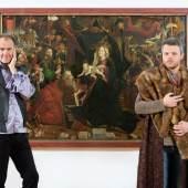 Sujet zum Stationentheater VORHANG AUF! DÜRER UND DA VINCI WISSEN, WIE DER HASE LÄUFT, 20. – 23. April 2017, Tiroler Landesmuseum Ferdinandeum Foto: TLM