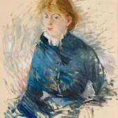 Damien Boquet Art Berthe Morisot (1841 - 1895) Portrait de Louise Riesener  Oil on canvas Circa: 1881 73 x 60 cm