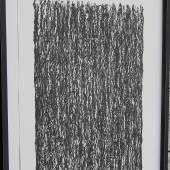 """Günter Uecker(1930-)""""Abstraktion"""",Lithographie,handsigniert und nummeriert 1/100,im Modellrahmen,Rahmenmaß ca.105x77cm"""