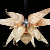 """Unikat-Deckenlampe """"Phönix"""", entworfen und ausgeführt von Peter Kuchler III, Startpreis € 18.000"""
