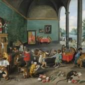 Jan Brueghel II (1601 - 1678) Eine Allegorie der Tulipomanie, Öl auf Holz, 25,5 x 35,5 cm, Schätzwert € 250.000 - 350.000, Auktion Alte Meister 9. Juni 2020