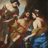 Massimo Stanzione (um 1585 - um 1656), Lot und seine Töchter, Öl auf Leinwand, 166,5 x 130,5 cm Schätzwert € 200.000 - 300.000, Auktion Alte Meister 9. Juni 2020