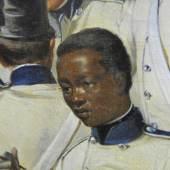 Ausschnitt: Wilhelm Richter (1824 - 1892), Friedenslager bei Somma, 1858      Öl/Leinwand, signiert und datiert (1858)