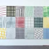 Thomas Baumann Common Infinite / Painting 2014-2015 Acryl auf Leinwand je 120 x 100 cm Ausstellungsansicht Haus Konstruktiv Zürich 2015