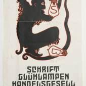 Werbeblatt für Schrift-Glühlampen der Firma Hansa, undatiert Sammlung Werkbundarchiv – Museum der Dinge / Foto: Armin Herrmann