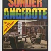Werbeprospekt der Firma Möbelhof, 1970er Jahre Sammlung Werkbundarchiv – Museum der Dinge / Foto: Armin Herrmann