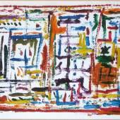 Heinz Derka, Voliere, Öl a.P, 18x26 cm