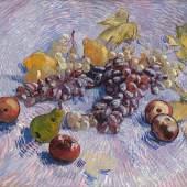 Vincent van Gogh (1853-1890), Trauben, Zitronen, Birnen und Äpfel, 1887, Öl auf Leinwand, 46,5 x 55,2 cm, The Art Institute of Chicago, Gift of Kate L. Brewster. Photo: bpk / The Art Institute of Chicago / Art Resource, NY