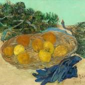 Vincent van Gogh (1853-1890), Stillleben mit Orangen, Zitronen und blauen Handschuhen, 1889, Öl auf Leinwand, 48 x 62 cm , National Gallery of Art, Washington D.C., Collection of Mr. and Mrs. Paul Mellon. Photo: © National Gallery of Art, Washington D.C.