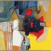 Roberto Burle Marx, r.u.sig., dat. 1986 São Paulo 1909 – 1994 Rio de Janeiro, 'o.T.', Acryl/Lwd., 110 x 147 cm, Farbfehlstellen