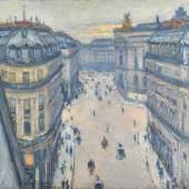 Gustave Caillebotte: Rue Halévy, Blick aus der sechsten Etage, 1878, Öl auf Leinwand, 59,5 x 73 cm, Hasso Plattner Foundation
