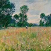 Claude Monet: Die blühende Wiese, 1885, Öl auf Leinwand, 65 x 80,5 cm, Hasso Plattner Foundation
