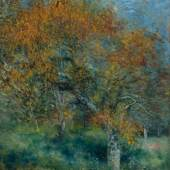 Pierre-Auguste Renoir: Der Birnbaum, um 1870, Öl auf Leinwand, 46,1 x 37,7 cm, Hasso Plattner Foundation