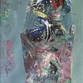 Hamo - Ohne Titel I, Öl auf Papier, 25 x 20 cm