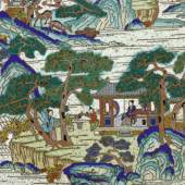 CLOISONNÉ-PANEEL China, 18. Jh. 49 x 41 cm. Ergebnis: CHF 49 000