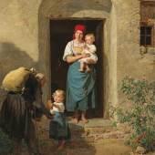 Ferdinand Georg Waldmüller Das gutmütige Kind (Der Bettler),Öl auf Holz, 66 x 52 cm, Schätzwert € 150.000 – 200.000, Auktion 7. Juni 2021