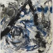 Emilio Vedova (1919-2006),Emerging - à Bruno Taut, 1983, Öl und  Mischtechnik auf Leinwand, 208 x 200 cm, Schätzwert € 90.000 – 120.000, Auktion 23. Juni 2021