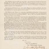 John Hancock, Signer of the Declaration from Pennsylvania.  100,000 - 200,000 USD