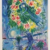 Lot. 211: Marc Chagall 'Couple et Poisson'
