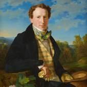 Georg Ferdinand Waldmüller, Selbstporträt in jungen Jahren, 1828,  Foto: Johannes Stoll / Belvedere, Wien