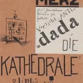 KURT SCHWITTERS (1887-1948). Die Kathedrale. 1920. Mit 8 Original-Lithographien. CHF 8 000 - 12 000.