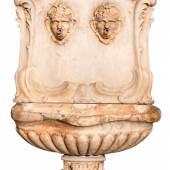 Großer Wandbrunnen  Italien, Ende 18./Anfang 19. Jahrhundert, Marmor, H: ca. 210 cm Foto: Kunsthandel Strassner Markus