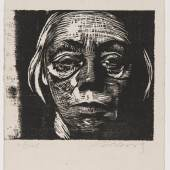 Käthe Kollwitz Selbstbildnis en face, 1922 Städtisches Kunstmuseum Spendhaus Reutlingen / Sammlung Peter Kemna © VG Bild-Kunst, Bonn 2014 Foto: Frank Kleinbach, Stuttgart