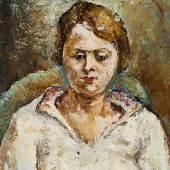 43 | Isaac Pailes  Bildnis eines Mädchens Ölgemälde, ca. 1920 Startpreis $2.400
